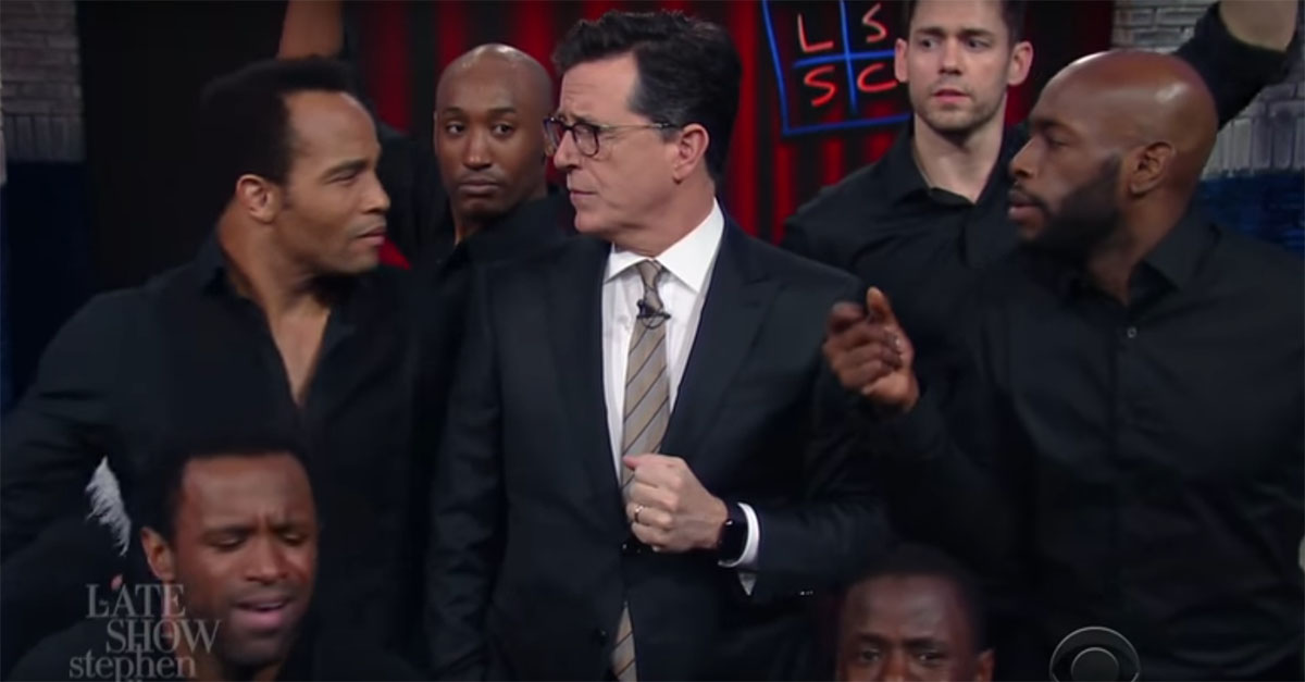 Colbert wanted to extend his sympathy to Mariah Carey, but he ran into some technical errors