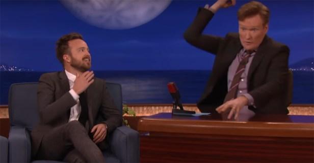 Conan and Aaron Paul discuss lightning strikes, Martha Stewart and Martha Stewart being struck by lightning