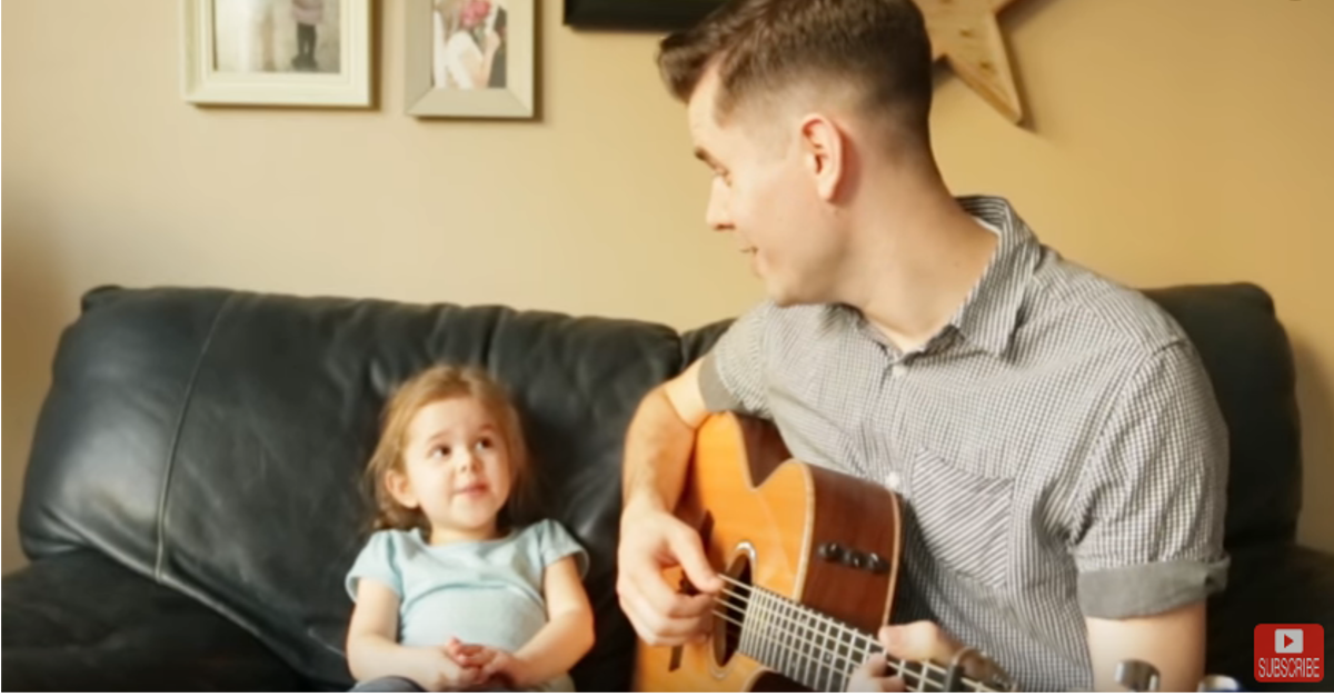 Millions are falling in love with this tiny tot and her doting daddy's duet