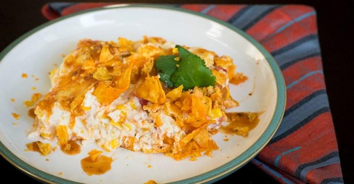 Chicken Dorito casserole may sound like a drunk person's invention, but it's actually super delicious