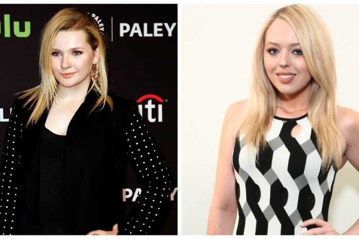 "Actress Abigail Breslin is on the defensive after posting a ""trashy"" photo with future first daughter Tiffany Trump"