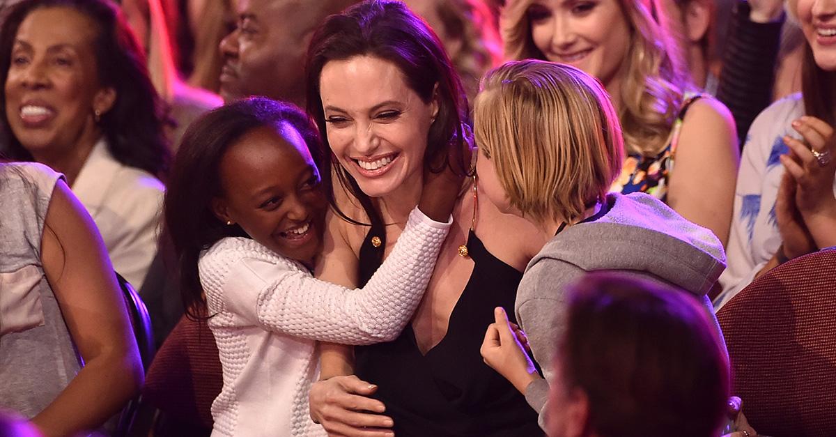 Angelina Jolie and her children gave a heartfelt speech at her movie premiere