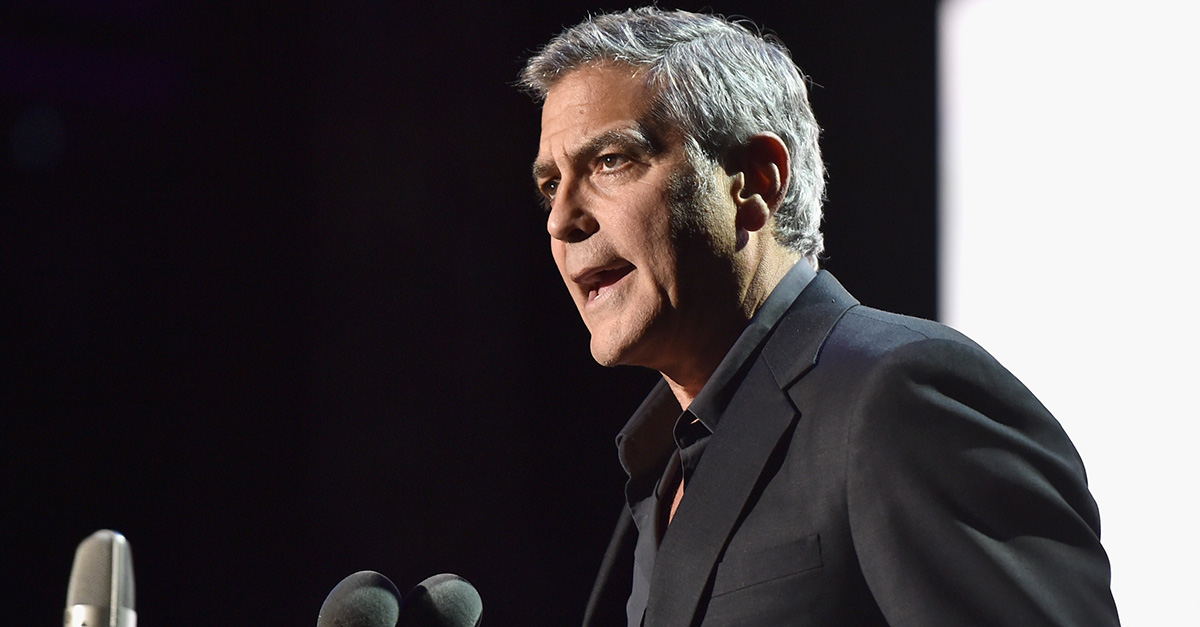 If you ask George Clooney, flood-drenched Houston is just like war-torn Syria