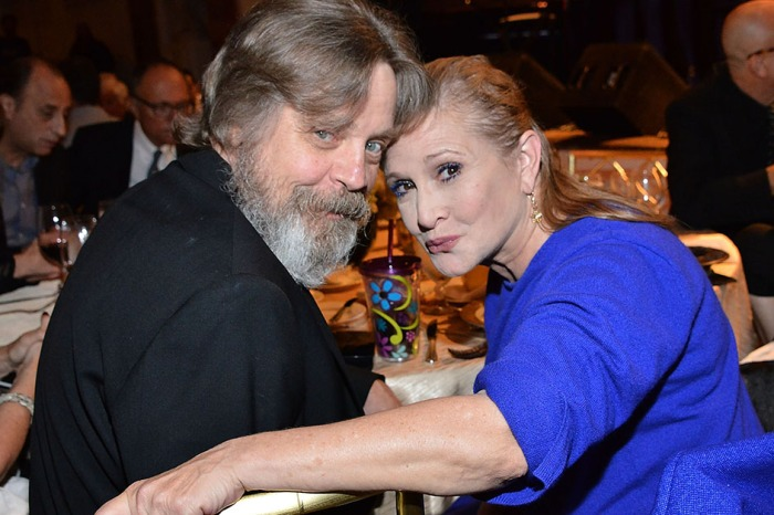 Mark Hamill gave an emotional tribute to Carrie Fisher and Debbie Reynolds ahead of their public memorial