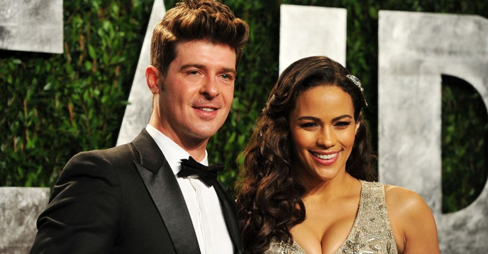 Robin Thicke and Paula Patton's nanny made a frantic 911 call claiming their son was begging to call the cops