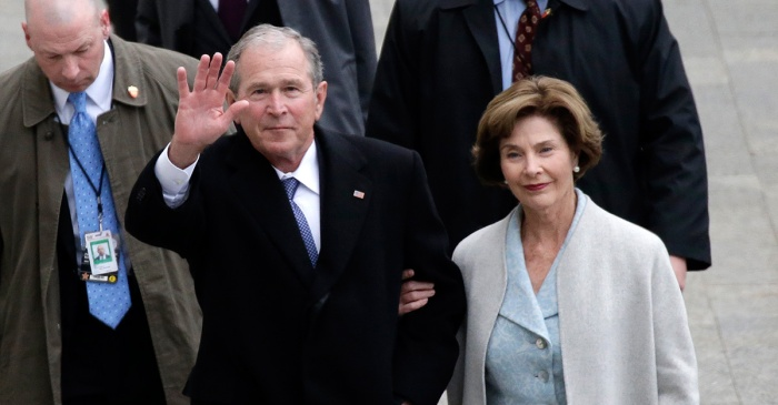 Laura Bush dishes on a time when husband George W. Bush got himself into a little trouble