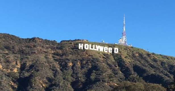 It's a new year, and some prankster just made some changes to the famous Hollywood sign