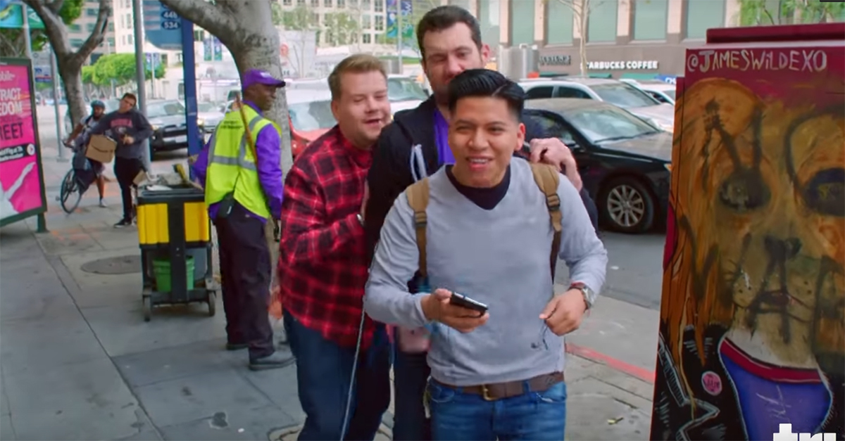 """""""Billy on the Street"""" tries to strike gold on a new segment with the help of James Corden"""
