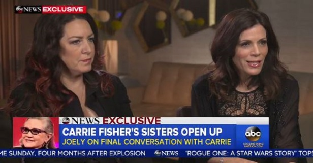 Joely and Tricia Fisher open about the tragic loss of Carrie and her mother during this emotional interview