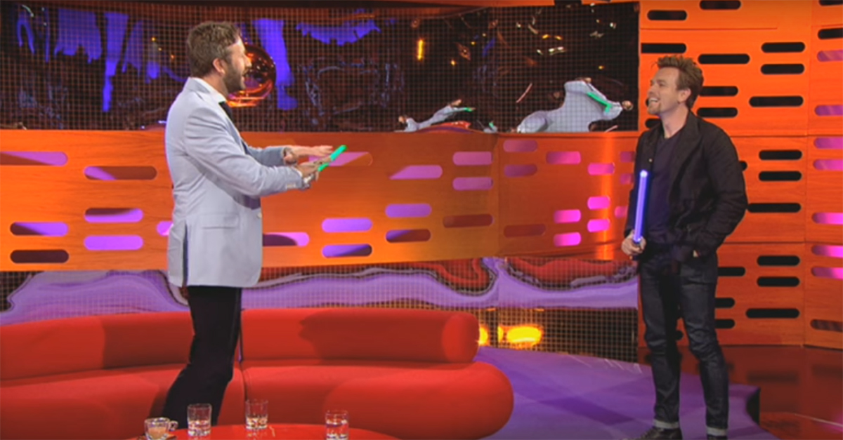 """Ewan McGregor went on Graham Norton's show and demonstrated his mastery of """"Star Wars"""" lightsaber sound effects"""