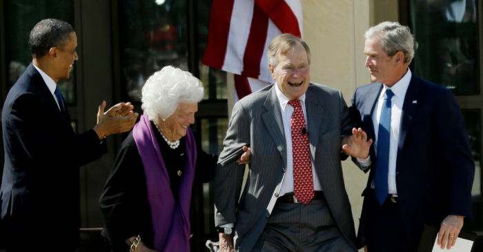 George W. Bush shared an encouraging update on his parents' hospitalizations