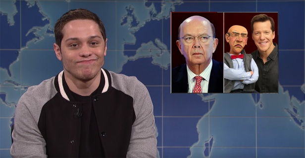 """SNL"" standout Pete Davidson tries to get political on ""Weekend Update"""