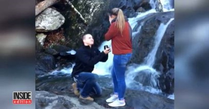A man thought he picked the perfect spot to propose — let's just say they'll never see the ring again