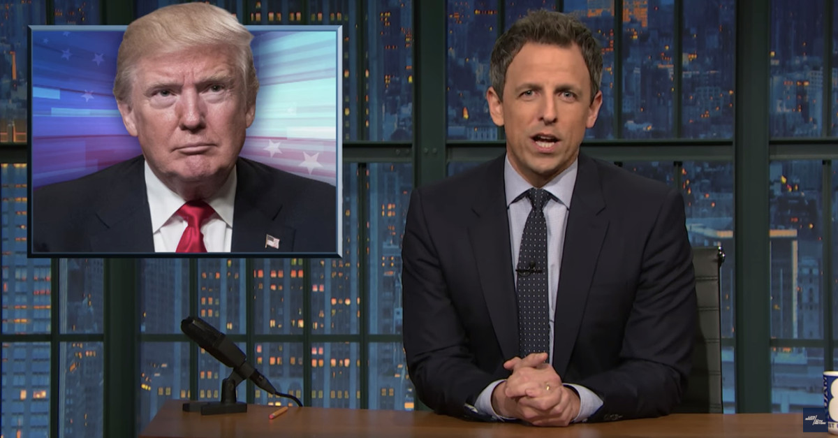 "Seth Meyers mocks Kellyanne Conway's ""alternative facts"" by telling her she's no Jedi"