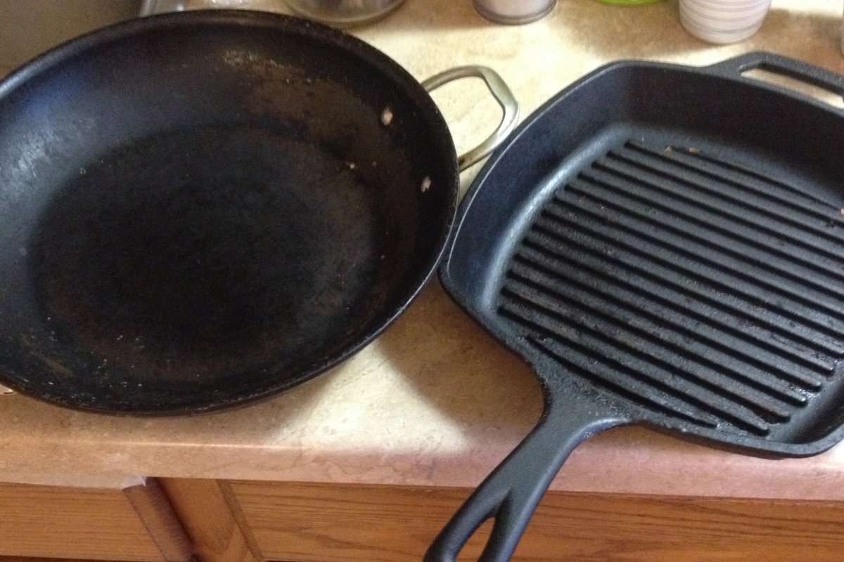 A cast iron skillet is nearly impossible to clean — or is it?