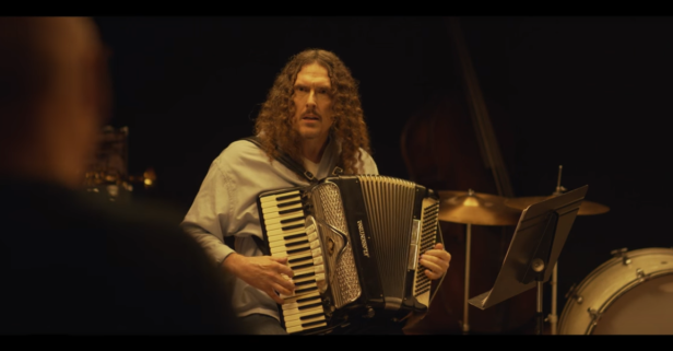 "Weird Al goes through some intense tour prep in this ""Whiplash"" mashup"