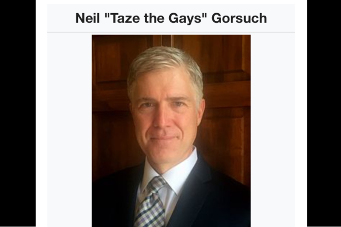 People headed to Neil Gorsuch's Wikipedia page tonight got a real shock