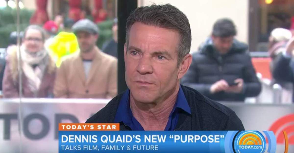 "Matt Lauer grilled ""A Dog's Purpose"" star Dennis Quaid over the alleged animal abuse on set"