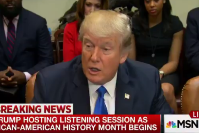 President Trump chose an odd moment to blast some members the media