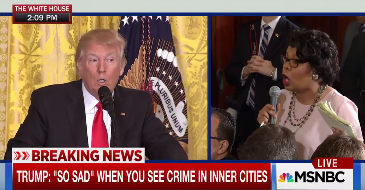 President Trump's answer to a journalist's question about the Congressional Black Caucus turned some heads