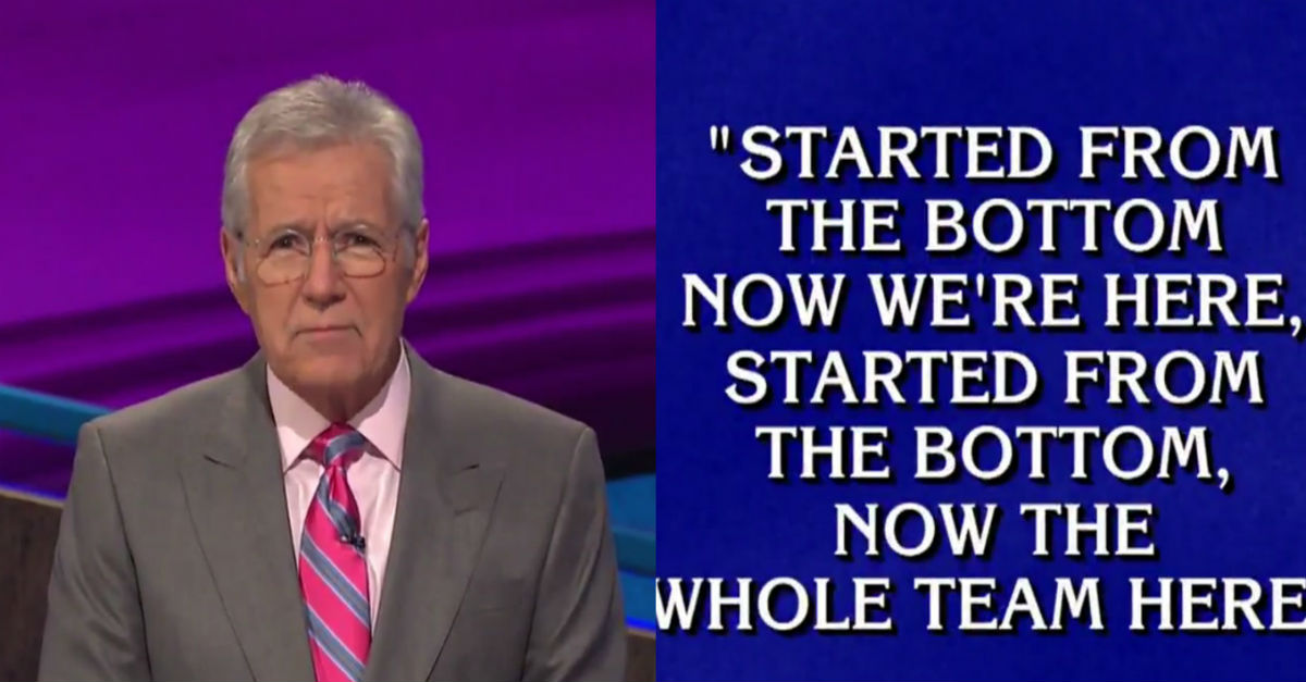 "Alex Trebek showed off his rap skills during an episode of ""Jeopardy!"""