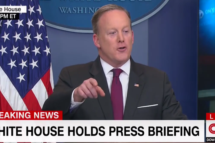 Sean Spicer made it very clear to a journalist that it wasn't his turn to speak