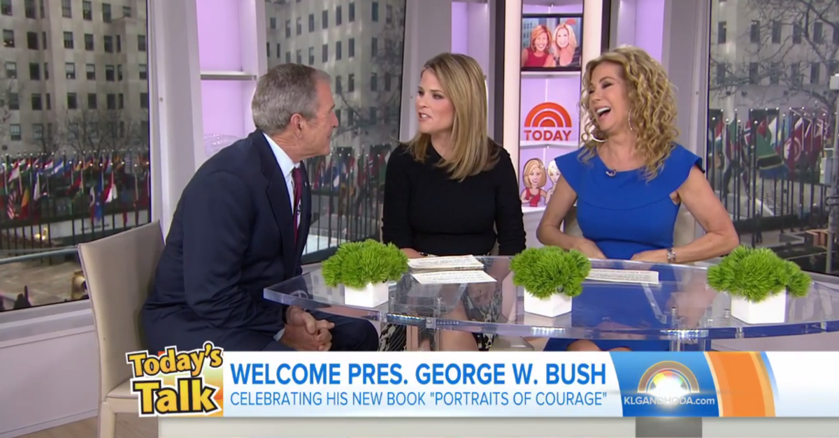 """George W. Bush went on """"Today"""" to see whether or not his daughter really had a job"""
