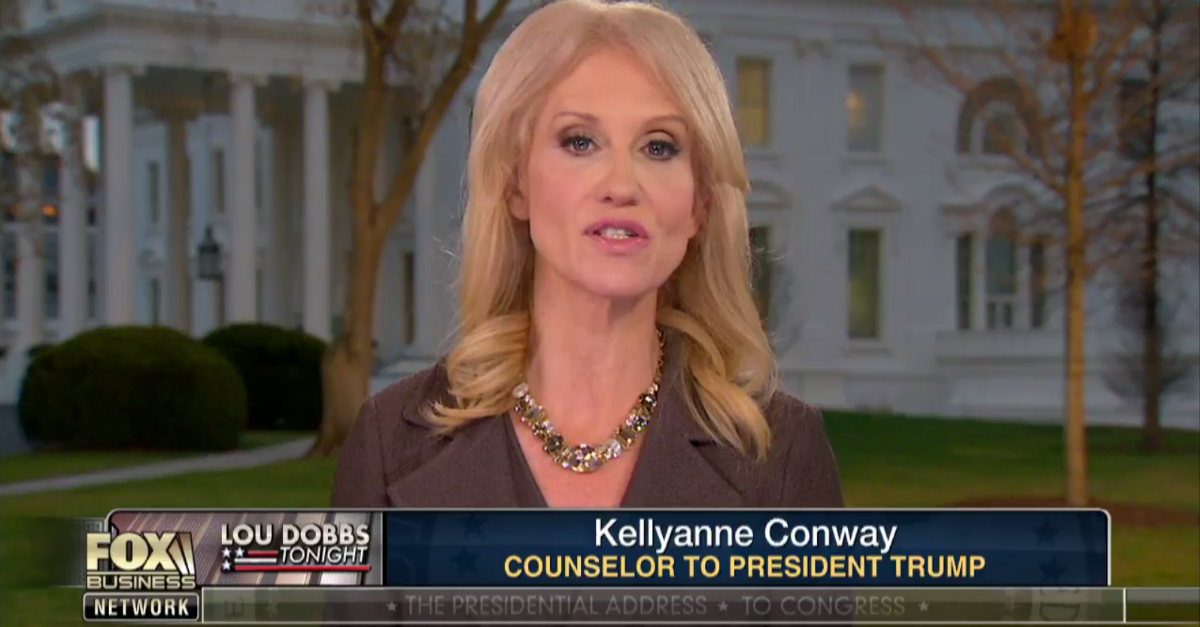 Kellyanne Conway did not let her sitting-related controversy stand