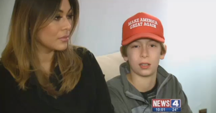 A sixth grader was beaten up for wearing a Make America Great Again hat, but his school's reaction is appalling