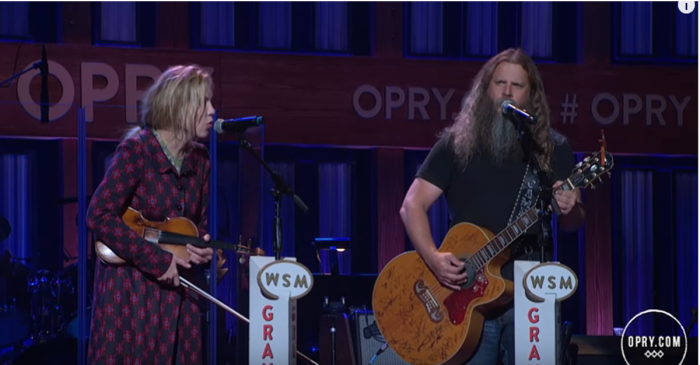 Our country ears are rejoicing over this traditional Grand Ole Opry duet