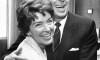 Ronald Reagan hugs his wife Nancy