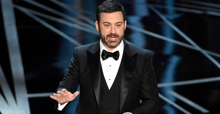 """I want this to be a comedy show"": Jimmy Kimmel gets emotional on Las Vegas"