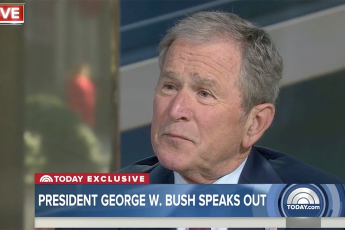 Former President George W. Bush opens up about Donald Trump's first month as commander in chief