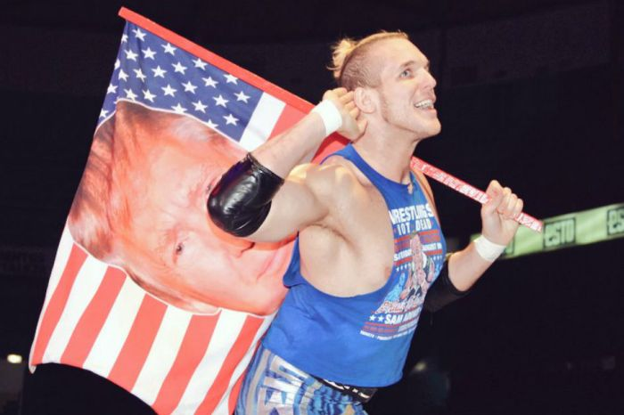 One Mexican professional wrestler is cashing in big time on the Donald Trump presidency