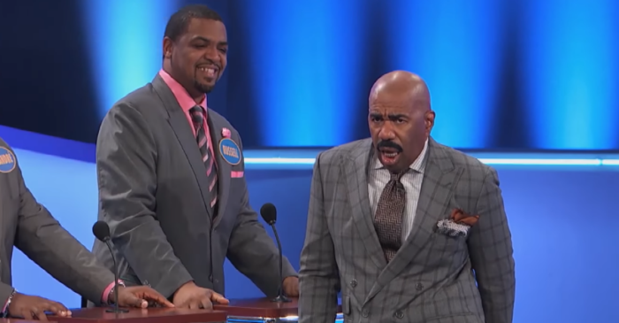 """A """"Family Feud"""" question about hemorrhoids went from awkward to painful to OMG"""