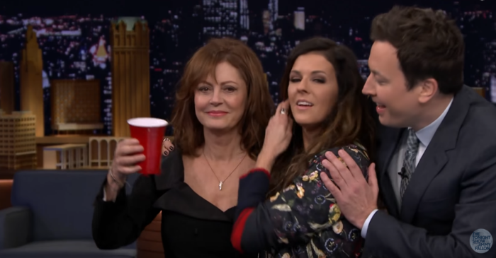 """Little Big Town, Susan Sarandon and Elijah Wood join Jimmy Fallon for a wild game of """"Musical Beers"""""""