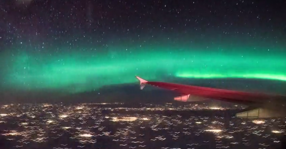 One airplane passenger captured mother nature in her most awe-inspiring