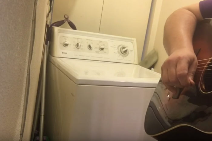 "He wanted to cover ""The Devil Went Down to Georgia"" but all he had was his guitar and a noisy washing machine"