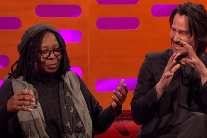 Keanu Reeves Can't Handle it When Whoopi Goldberg Explains What Happens Downstairs When Women Age