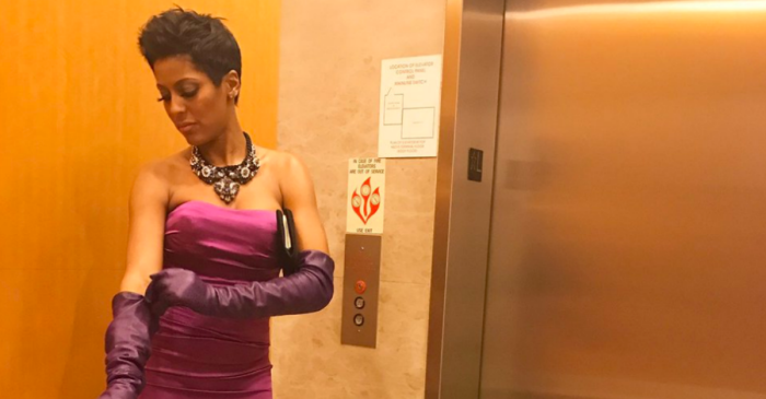 "Tamron Hall steps out in style for the first time since leaving ""Today"""