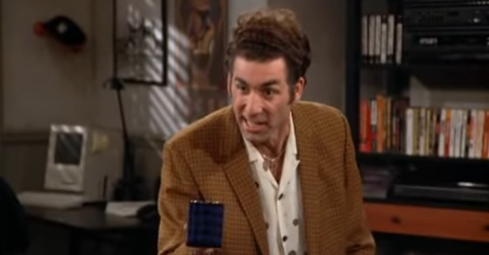 Kramer's scotch commercial is the stuff of sitcom legend