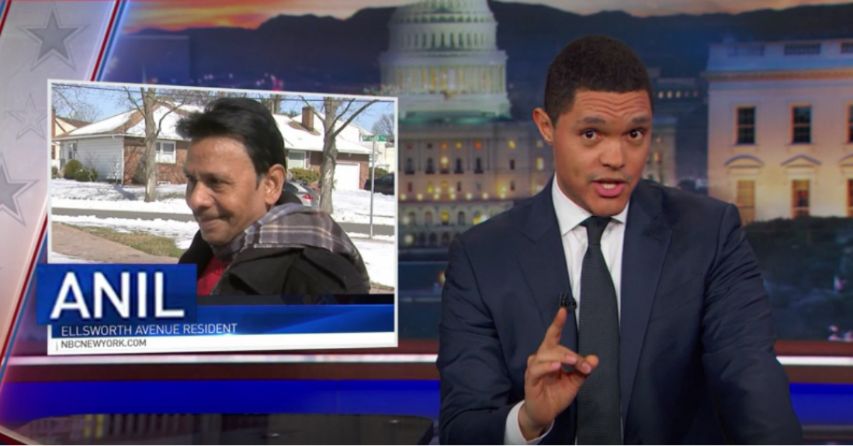 Trevor Noah couldn't help but joke with the N.J. residents fighting to keep their street name out of the gutter
