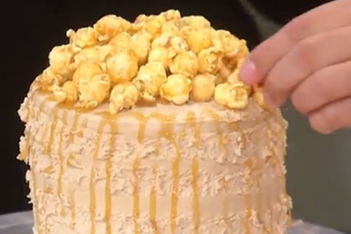 One of America's most beloved pastry chefs shares his wild, wonderful recipe for caramel popcorn cake