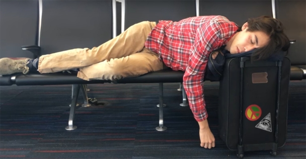 Take some wise advice from College Humor: Don't travel while you're hung over