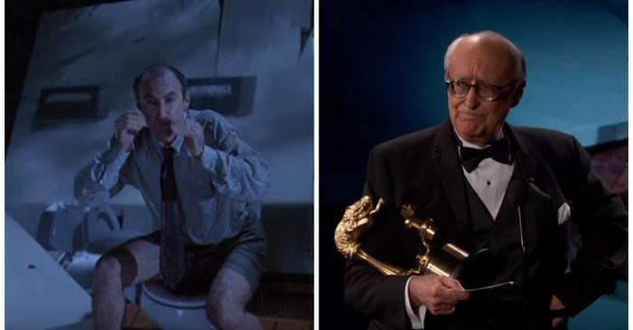 "Jimmy Kimmel presents a lifetime achievement award to one unforgettable ""Jurassic Park"" actor"