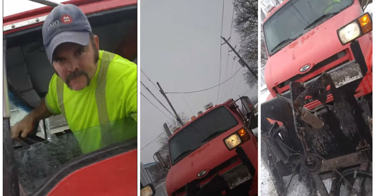 Kid Talks Back To Snow Plow Driver And Receives Instant Karma