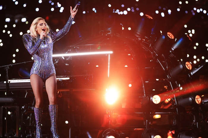 Hollywood's elite nearly lost their minds when Lady Gaga took the stage at the Super Bowl halftime show