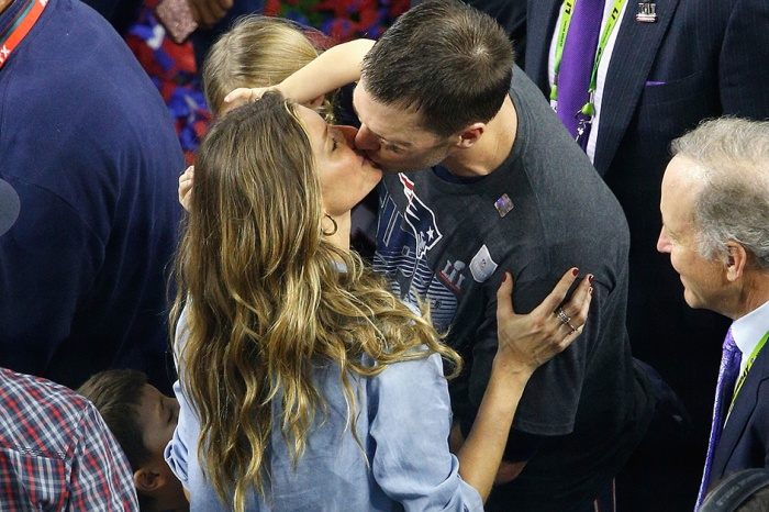Gisele Bündchen and Tom Brady shared a sweet moment following the Patriots historic Super Bowl win
