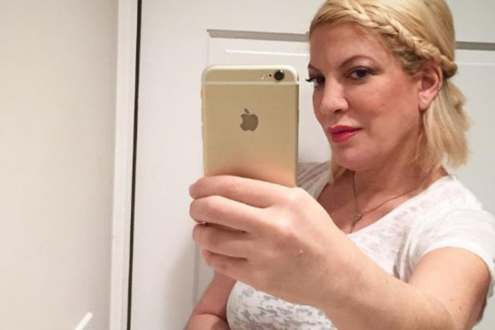 She's ready to pop! Tori Spelling flaunts her growing baby bump just weeks before her due date