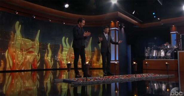 Jimmy Kimmel had Will Arnett face true terror by walking barefoot across a pile of Lego bricks